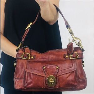 Coach 65th Anniversary Legacy Oxblood Leather Bag